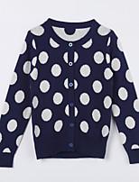 Girl's Casual/Daily Polka Dot Sweater & CardiganCotton Fall Blue