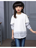 Girl's Casual/Daily Solid Blouse / Clothing SetCotton / Rayon Spring / Fall Black / White