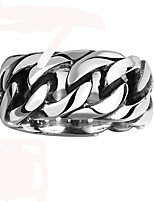 Vintage Mens Rings 316L Stainless Steel Ring Punk Chain Weave Anel Masculino Men Jewelry