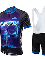 Sports® Cycling Jersey with Tights Men's / Unisex Short Sleeve Breathable / Quick Dry / Front Zipper / Wearable / Compression BikeBib