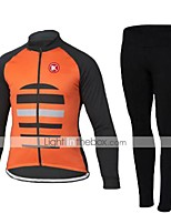 KEIYUEM Winter Thermal fleece Long Sleeve Cycling Jersey Long Tights Ropa Ciclismo Cycling Clothing Suits #W81