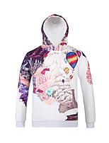 Inspired by3D Balloons Flower Long Sleeve Hoodie Cosplay Hoodies Print Long Sleeve Coat Clothing Round Halloween