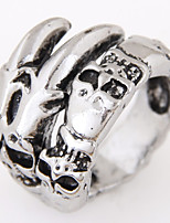 Men European Style Vintage Retro Fashion Exaggerated Skull Band Rings