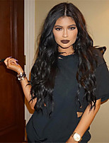 Natural Fashion Wave Natural Black Color Brazilian Virgin Human Hair Glueless Lace Front Wig With Baby Hair