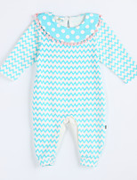 Girl's Casual/Daily Striped Overall & JumpsuitCotton Fall Blue