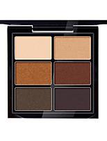 6 Eyeshadow Palette Dry Eyeshadow palette Powder Normal Daily Makeup