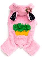 Коты / Собаки Плащи / Толстовки / Брюки / Комбинезоны Коричневый / Розовый / серый Одежда для собак Зима / Весна/осеньЖивотный принт /
