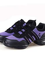 Non Customizable Women's Dance Shoes Leather / Fabric Leather / Fabric Dance Sneakers / Modern Sneakers Flat Heel
