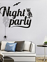 AYA DIY Wall Stickers Wall Decals Halloween Decoration Night Party Type PVC Panel Wall Stickers 52*82cm