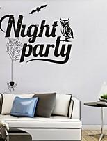 Праздник Наклейки Простые наклейки Декоративные наклейки на стены,PVC материал Съемная Украшение дома Наклейка на стену