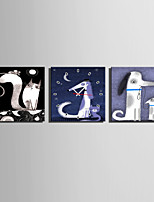 MINI SIZE E-HOME Cartoon Animal Clock in Canvas 3pcs