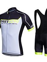 Sportif® Maillot et Cuissard à Bretelles de Cyclisme Femme / Homme / Unisexe Manches courtesRespirable / Séchage rapide / Perméabilité à