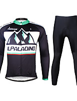 PALADIN® Cycling Jersey with Tights Men's Long Sleeve BikeBreathable / Quick Dry / Ultraviolet Resistant / Compression / Lightweight
