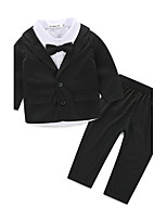 Boy Casual/Daily Solid Sets,Cotton Fall Clothing Set