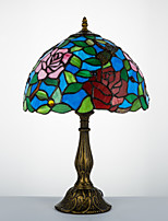 40W Traditional/Classic / Tiffany Desk Lamps  Feature for Arc  with Painting Use In-Line Switch