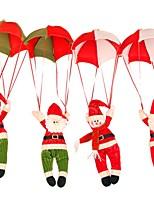 2016 bonhomme de neige maison ornement décoration décoration parachute père noël poupée pendentif jouets de Noël