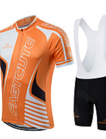 Sports® Cycling Jersey with Bib Shorts Women's / Men's / Unisex Short SleeveBreathable / Quick Dry / Moisture Permeability /