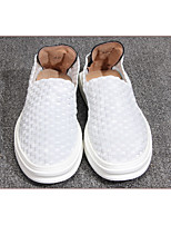 Men's Flats Spring / Fall Comfort Leather Casual Flat Heel Others White Others