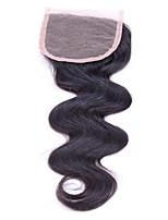 7A Best Virgin Brazilian Closure Body Wave Brazilian Lace Closure Free/2/3Part Virgin Human Hair Closure