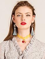 Ожерелье Ожерелья-бархатки Бижутерия Повседневные Мода Сплав Желтый 1шт Подарок