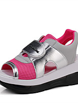 Women's Sandals Summer Slingback Leatherette Casual Platform Others Blue / Silver / Black and White / Fuchsia Others