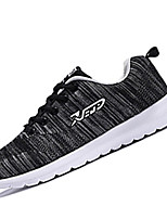 Men's Sneakers Spring Fall Comfort Fabric Outdoor Athletic Flat Heel Lace-up Black Blue Gray Running