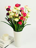 1 1 Филиал Пластик Камелия Букеты на стол Искусственные Цветы 19.2inch/49cm