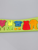 Cute little baby suits clothes fondant cake silicone mold candy mold decoration tools