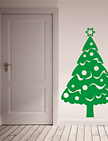 Navidad / Día Festivo Pegatinas de pared Calcomanías de Aviones para Pared Calcomanías Decorativas de Pared,PVC Material Removible
