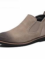 Westland's Men's Boots Fashion Boots / Suede Casual Low Heel Gore / Slip-on Black / Gray / Beige Walking