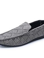 Men's Loafers & Slip-Ons Spring / Summer / Fall / Winter Comfort / Round Toe / Closed Toe  Casual Flat Heel Black / Gray