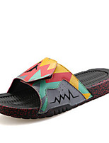 Men's Sandals Summer Flats PU Casual Flat Heel Others Blue / Orange