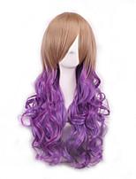 die ursprüngliche sufeng Pick Farbe gefälschte Rolle 'ms hohen Temperaturgradienten lila Seide lockiges Haar