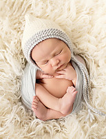 Newborn Prince Vintage Photography Prop Birthday Angel Knitting Hat(0-6Month)