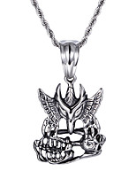 Kalen®China Jewelry Supplier  New Personalised 316L Stainless Steel Eagle Skull Pendant Necklaces Cool  Gifts