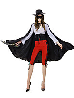 Costumes Movie & TV Theme Costumes Halloween Red / White / Black Solid Terylene Top / Pants / Hats / More Accessories