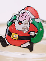 1шт Санта Клаус мигающие брошь рождественские украшения значок