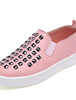 Girl's Loafers & Slip-Ons Spring / Fall Comfort PU Casual Flat Heel Slip-on Black / Pink / White Sneaker