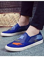 Men's Loafers & Slip-Ons Summer Tulle Outdoor Flat Heel Animal Print Blue Others