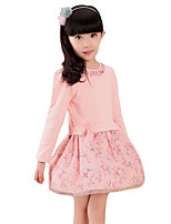 Girl's Casual/Daily Print Dress,Others Summer Pink