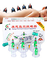 New Chinese Medical 6 cups Vacuum Body Cupping Set Portable Massage Therapy Kit