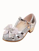 Синий Розовый СеребристыйСвадьба Для праздника Повседневный Для вечеринки / ужина-Синтетика-На низком каблуке-Удобная обувь Light Up обувь
