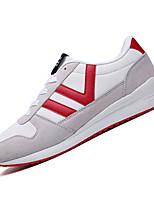 Herren-Sneaker-Lässig-Stoff-Flacher Absatz-Komfort-Schwarz Blau Grau