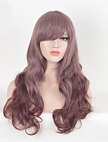 Purple Color Women Synthetic Wigs Fashion Long Wave European and American Wigs