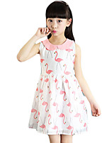 Girl's Casual/Daily Floral Dress,Others Summer Pink / White