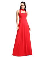 TS Couture® Торжественное мероприятие Платье А-силуэт Хальтер В пол Джерси с
