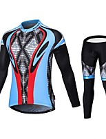Sports Cycling Jersey with Tights Men's Long Sleeve BikeBreathable / Quick Dry / Front Zipper / Wearable / High Breathability (>15,001g)