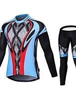 MALCIKLO® Maillot et Cuissard Long de Cyclisme Homme Manches longues VéloRespirable / Séchage rapide / Zip frontal / Vestimentaire /