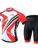 XINTOWN® Maillot de Ciclismo con Shorts Hombres Mangas cortas BicicletaTranspirable / Secado rápido / Resistente a los UV / Almohadilla