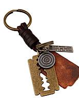 Key Chain / Key Chain Bronzed Metal / PU Leather